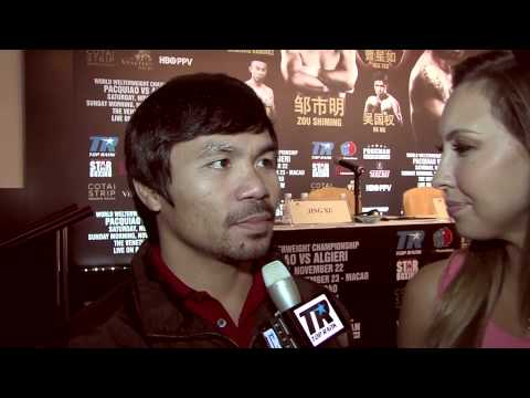 Pacquiao Reacts to Algieri's Joke About His Height