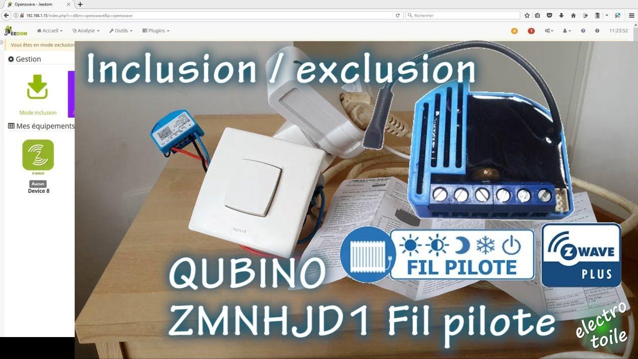inclusion exclusion du module qubino fil pilote zmnhjd1 zwave sous jeedom youtube. Black Bedroom Furniture Sets. Home Design Ideas