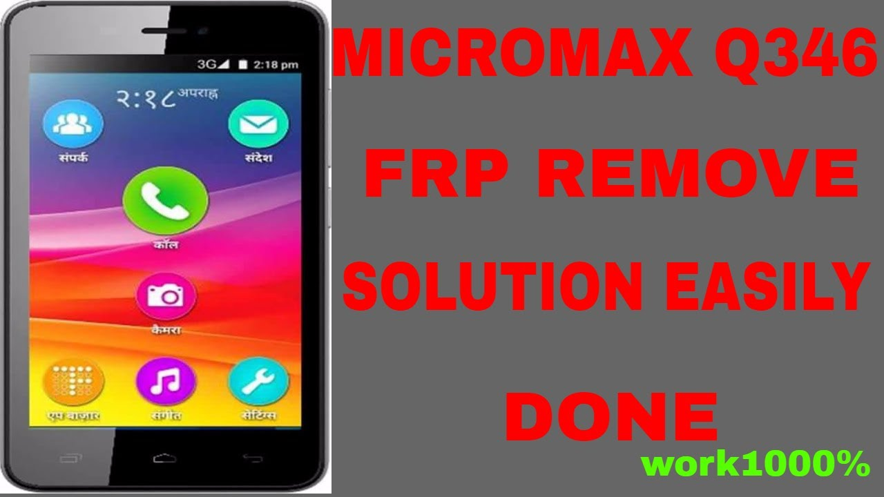 unlock micromax q346 google account lock||bypass google account {frp lock}