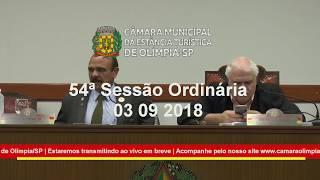 54ª Sessão Ordinária 2018 03-09-2018
