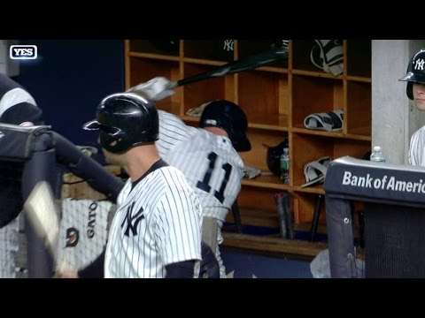Gardner destroys recycling bin with bat