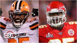 Breaking down the deals for Myles Garrett and Chris Jones for Browns, Chiefs | SportsCenter