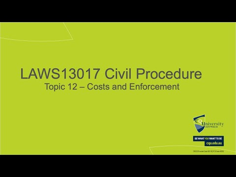 LAWS13017_12 Costs and Enforcement