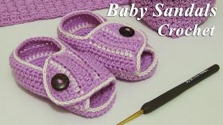 Download lagu Crochet Merajut Sepatu Sendal Untuk Bayi Baby Sandals MP3