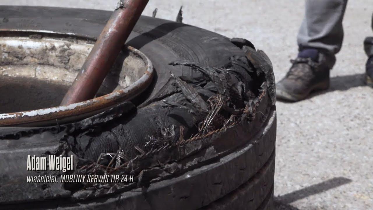 Zacisk hamulcowy zniszczył koło w naczepie! #Mobilni_Mechanicy