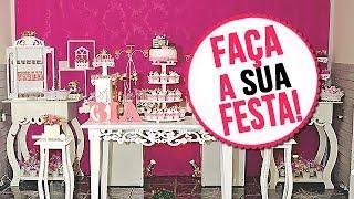 Faça sua festa própria festa! - ideias baratinhas de decoração.
