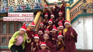 Happy merry Christmas/2021/Green Tara/Small Monks/Food/