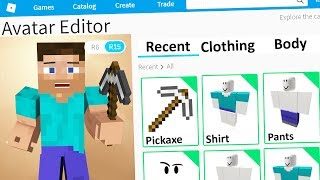 MAKING MINECRAFT STEVE A ROBLOX ACCOUNT