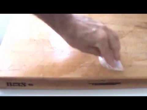 how to treat a new cutting board