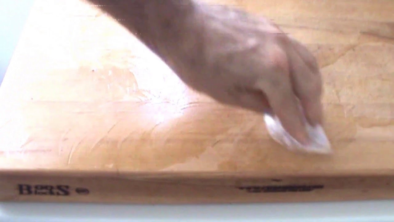 How To Treat A New Cutting Board Youtube