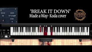 Koda takes us thru his cover of travis greene's ' made a way' he covers the sound patches used as well chords to intro