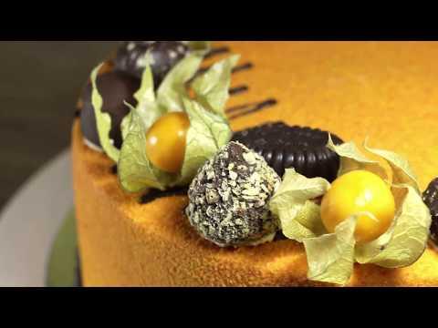 Как украсить торт физалисом