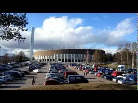 Helsinki Olympic Stadium on a Sunny Day, Finland April 2012