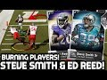 STEVE SMITH SR & ED REED! BURNING DEFENDERS! Madden 19 Ultimate Team