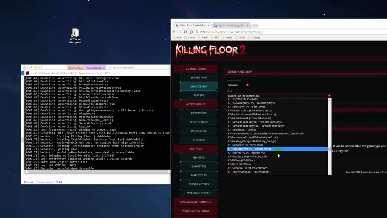 Killing Floor 2 Server Crash W/ 520+ Custom Maps (Bug Report)