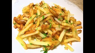 ЖАРЕНАЯ КАРТОШКА. Как Вкусно Пожарить. 10 ОСНОВНЫХ ПРАВИЛ для начинающих. Fried Potatoes  .