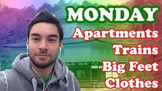 A Week In Japan - Day 1: Apartments, Trains, Convenience Stores, Clothes, Big Feet
