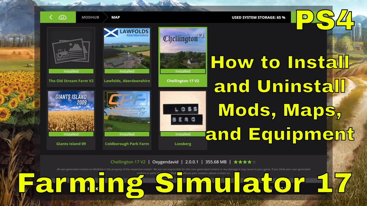 How to Install and Uninstall Mods   Farming Simulator 17   PS4