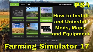 How to Install and Uninstall Mods | Farming Simulator 17 | PS4