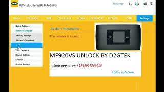 ZTE MF920VS UNLOCK 100% DONE IN MINUTES