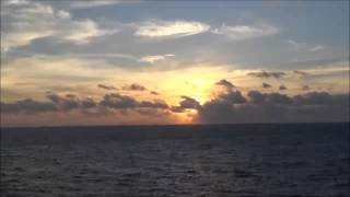 Compilation of sunrise pictures and videos taken while aboard the A...