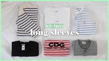 [킷템] 무지 긴팔티부터 스트라이프 티셔츠까지! 데일리 여자 롱슬리브 브랜드 추천🥰 ( 스타일링 꿀팁🍯)