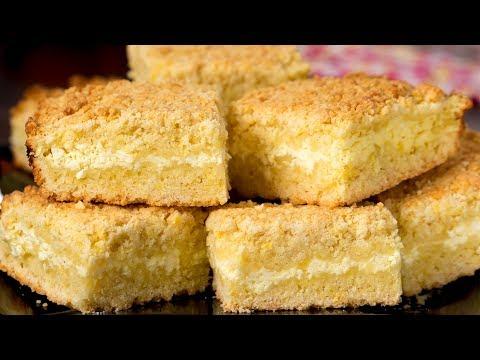 Пирог с творогом - быстрый и простой рецепт. Каждый кусочек настоящее наслаждение. | Appetitno.TV