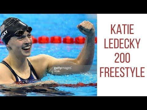 Katie Ledecky swims 200 free at Stanford ASU dual meet