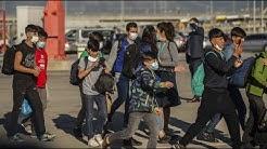 Corona-Pandemie: Minderjährige Flüchtlinge in Deutschland gelandet