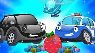 Bob the Police Car on a Mission to find Baby Cars Stolen Christmas Surprise Egg Toys | Kids Cartoon
