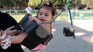 BABY'S FIRST TIME ON A SWING!!!
