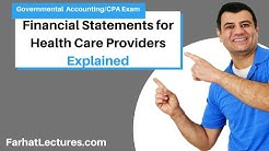 Financial Statements for Health Care Providers | Not for Profit Accounting | CPA Exam FAR