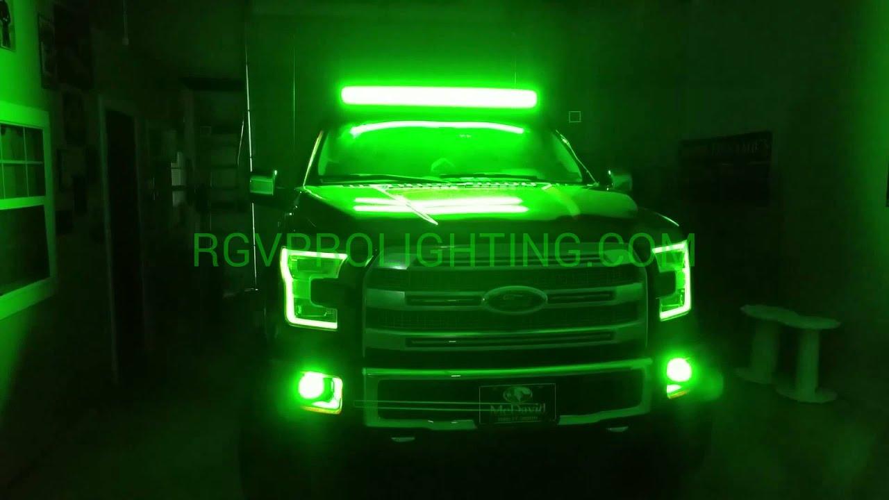 2015 Ford F150 Platinum With Custom Headlights Youtube