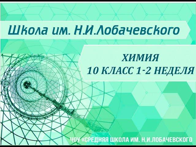Химия 10 класс 1-2 недели Предмет органической химии. Органические соединения.