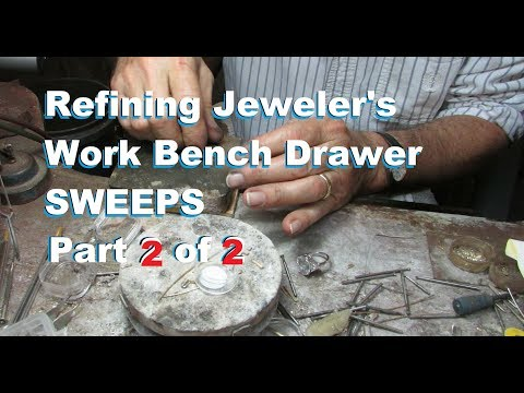 Gold Recovery Jeweler's Work Bench Drawer Sweeps Part 2of2