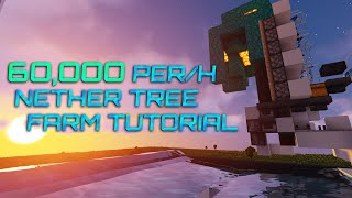 Simple 60k/h Nether Tree Farm Tutorial | 1.16.3+