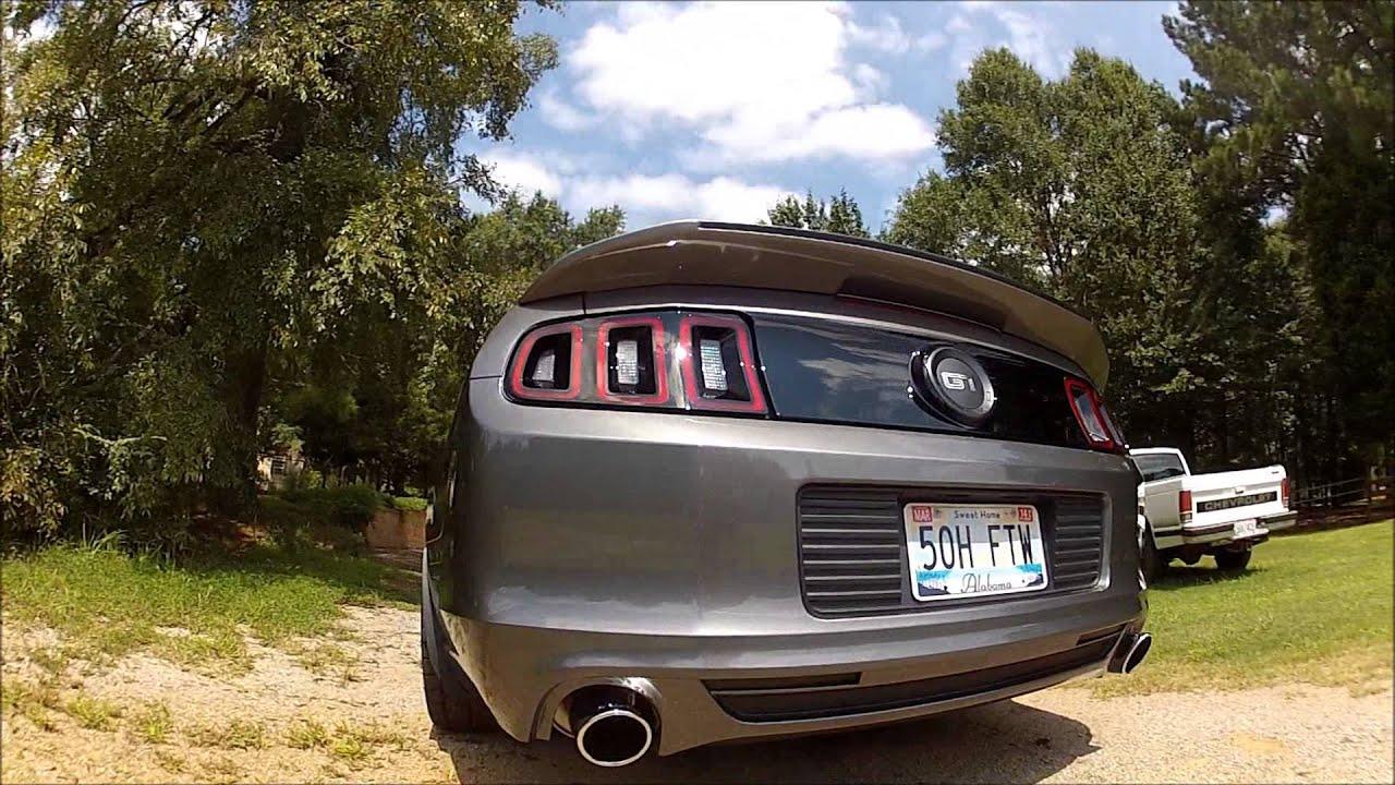 Gt500 Spoiler On 2014 Mustang Gt Youtube