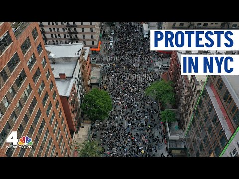 NYC Protests Continue; See Live Chopper 4 Footage| NBC New York