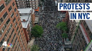 NYC Protests Continue; See Live Chopper 4 Footage  NBC New York