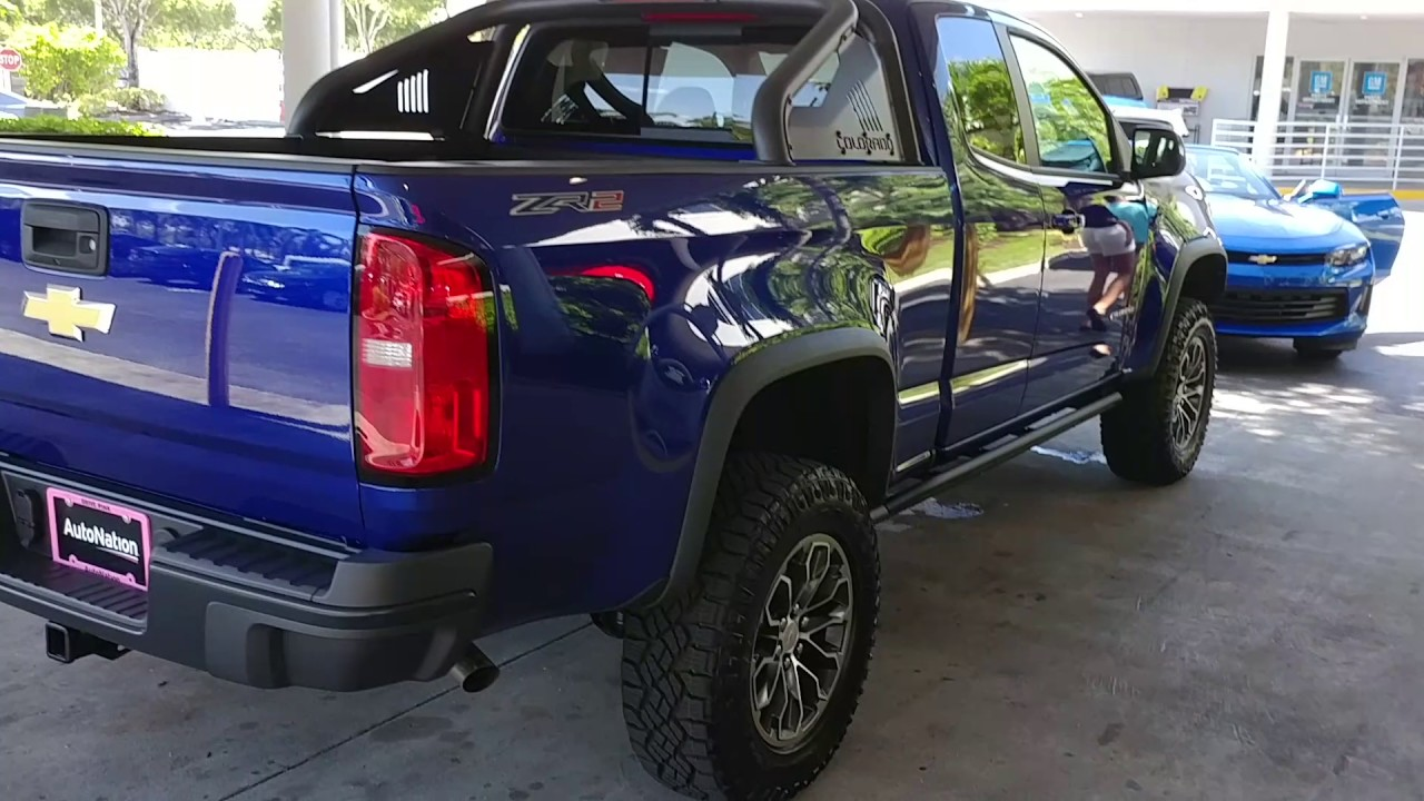 Laser Blue Metallic 2017 Chevy Colorado 4wd Zr2 Extended