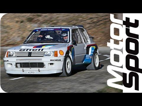 Legendary Peugeot 205 T16 EVO1 test on closed road