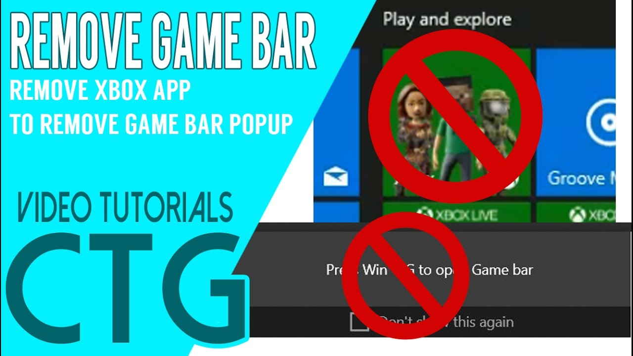 HOW TO REMOVE GAME BAR POPUP - REMOVE XBOX APP
