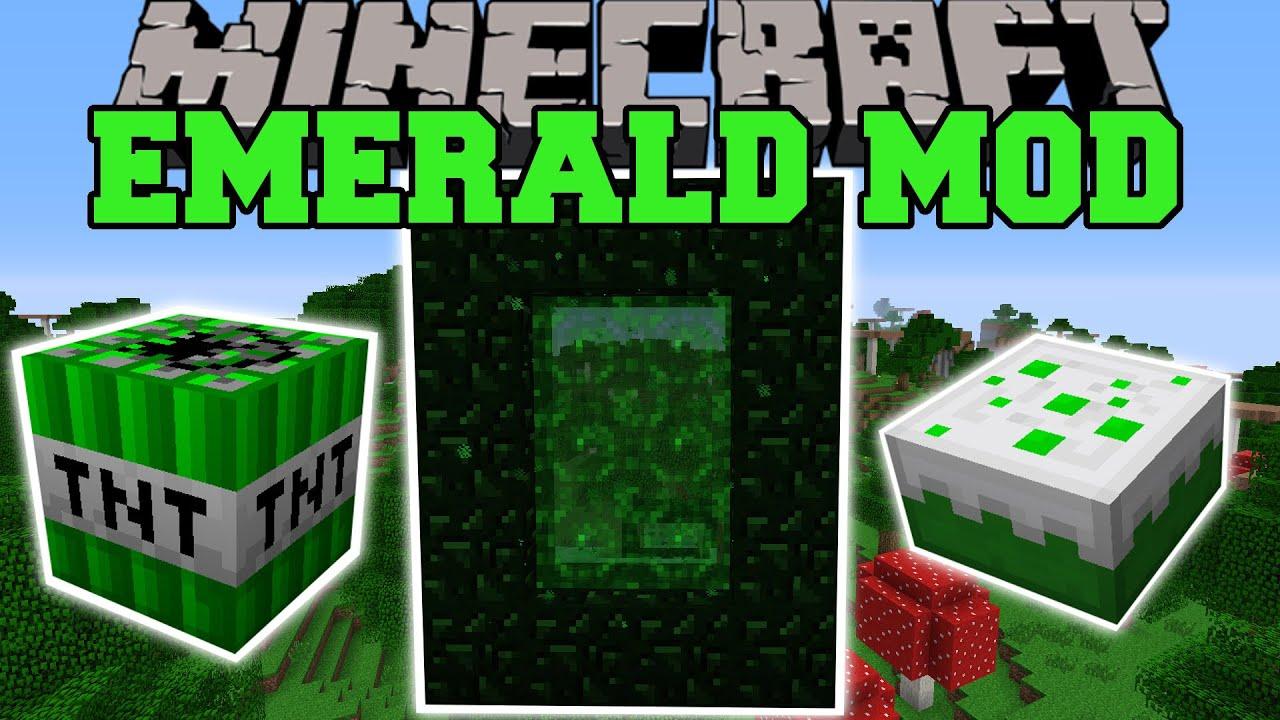 Minecraft: EMERALD MOD (NEW DIMENSION, EXPLOSIVES, WEAP ...