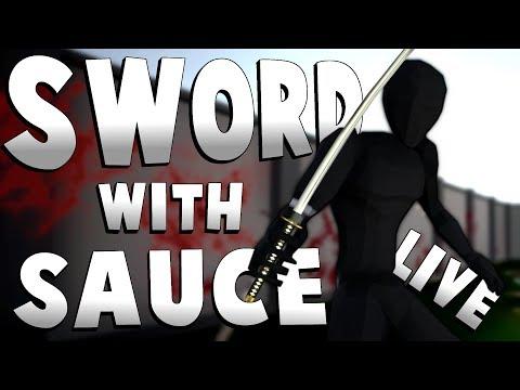 SURVIVAL MODE & NINJA MODE! - Sword With Sauce Alpha Gameplay Live