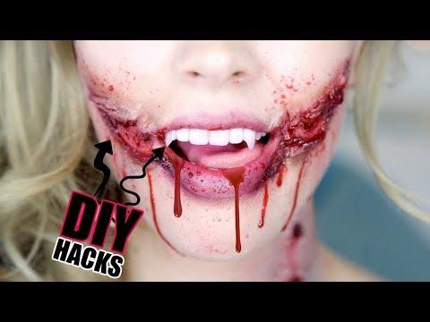 DIY Special FX HACKS! | EASY DIY Liquid Latex, blood, vampire teeth & more!