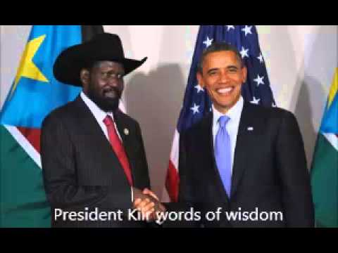 salva kiir words of wisdom in Dinka