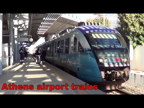 Greek railways, at Athens's international airport railway station