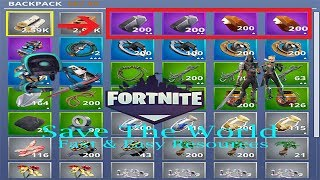 Fortnite Save The World - How To Get Resources Fast and Easy