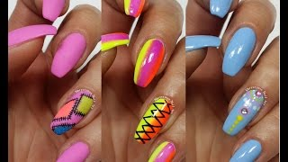 3 Easy Accent Nail Ideas! Freehand #5 (Khrystynas Nail Art)
