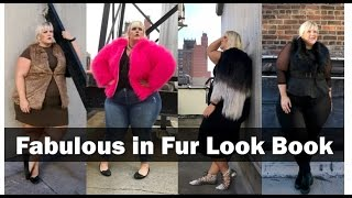 5 Ways to Rock Faux Fur:  A Plus Size Look Book